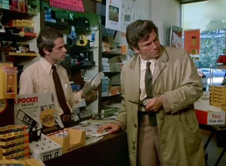 Peter Falk and Harvey Gold in 'Columbo'