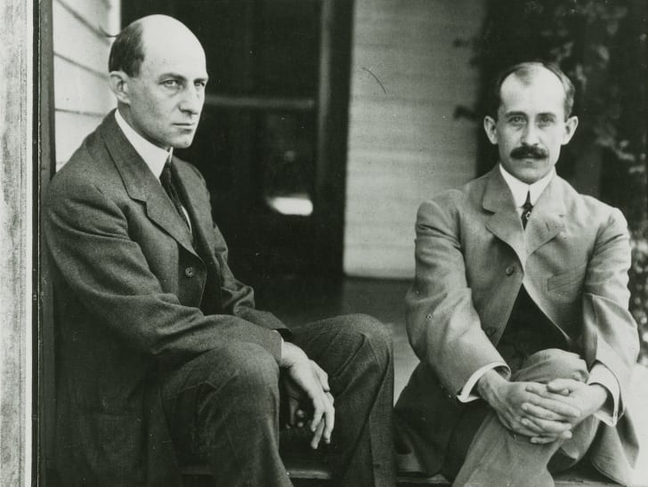 A photograph of the Wright Brothers at home