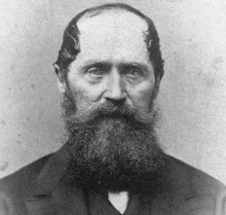 Portrait of Donner Party member Lewis Keseberg
