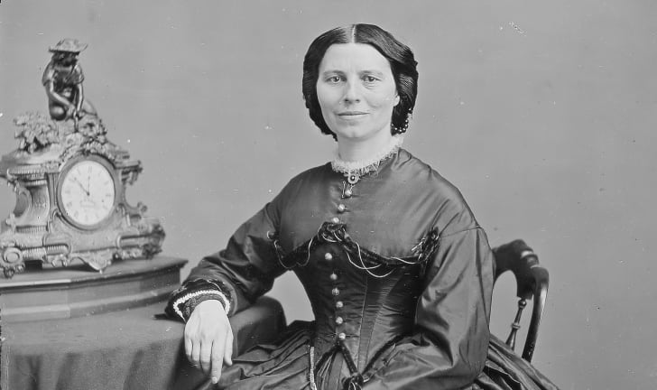 Red Cross founder Clara Barton photographed by Mathew Brady