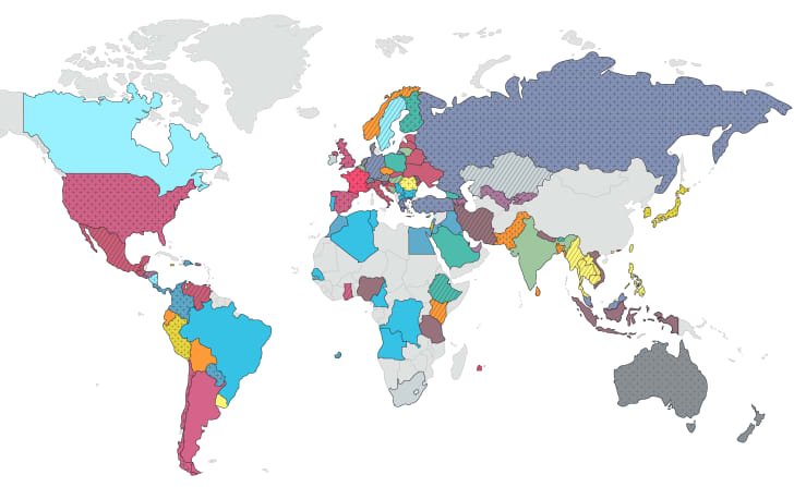 most popular Netflix show in each country map