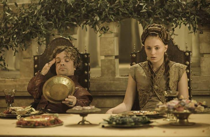 Peter Dinklage and Sophie Turner in Game of Thrones