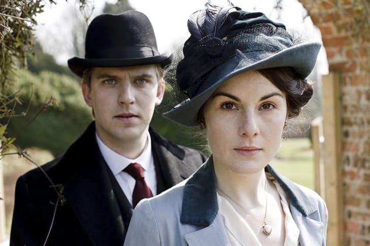 Dan Stevens and Michelle Dockery in 'Downton Abbey'