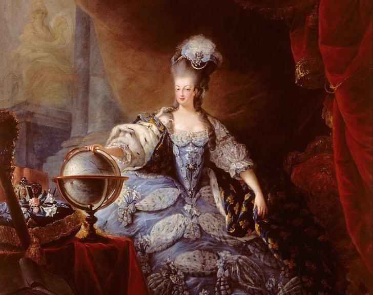 A portrait of Marie Antoinette