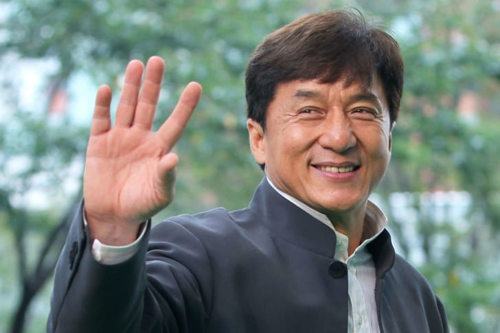 Actor Jackie Chan makes a public appearance