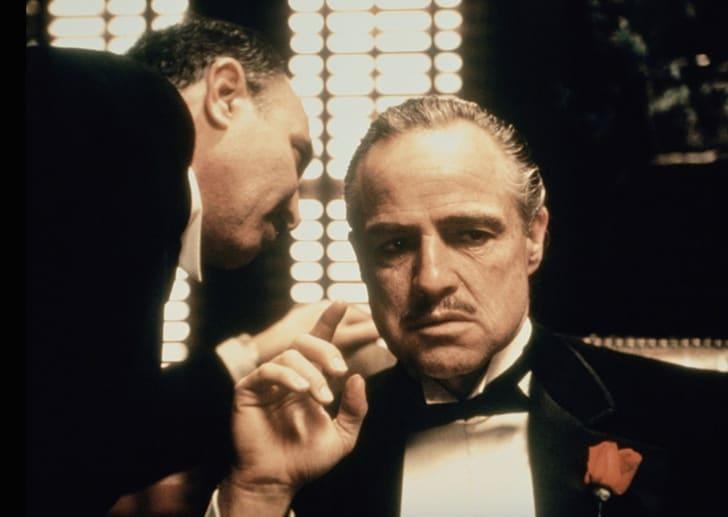 Marlon Brando and Salvatore Corsitto in 'The Godfather' (1972)