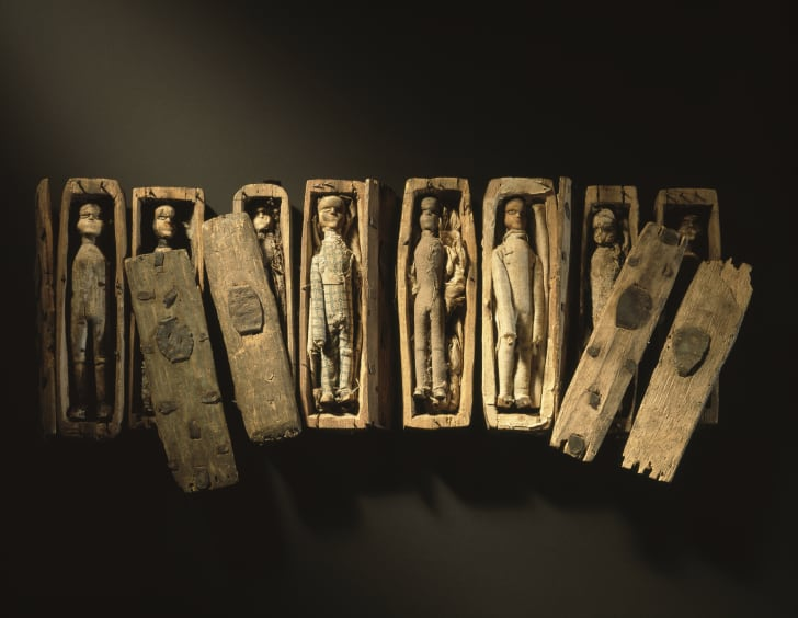 Some of the coffins discovered in 1836