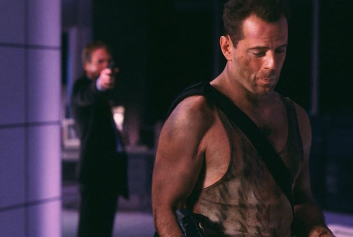 Alan Rickman and Bruce Willis in 'Die Hard' (1988).