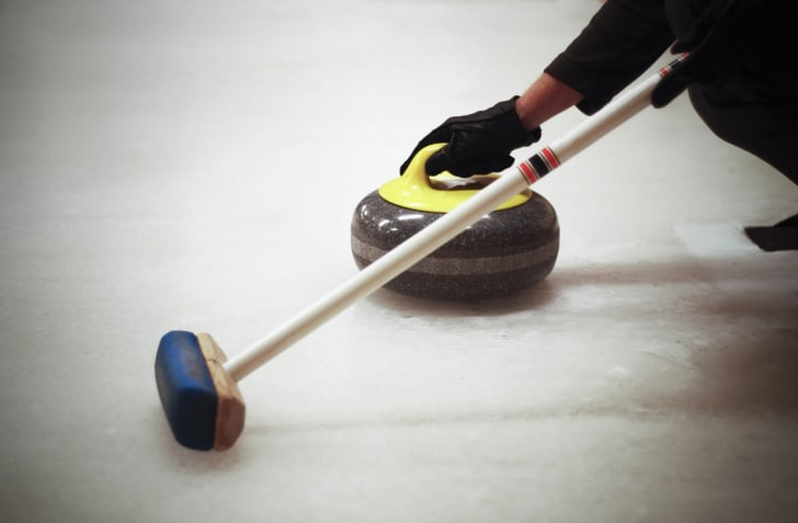 A photo of curling