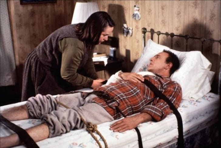 Kathy Bates and James Caan star in 'Misery' (1990)