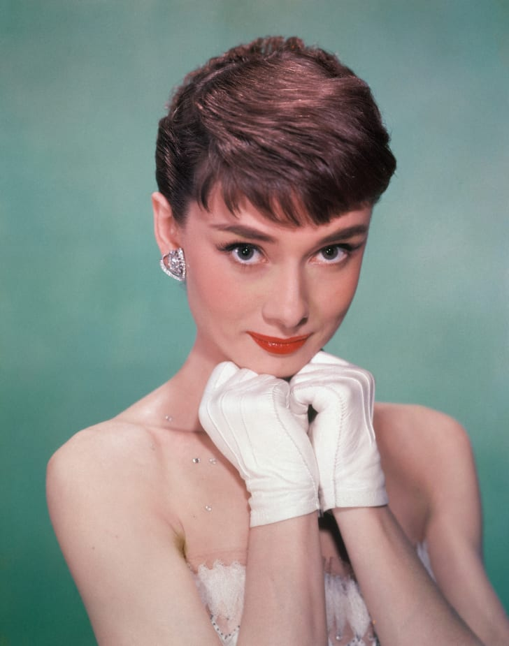 A photo of actress Audrey Hepburn