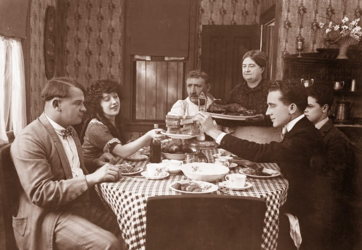 A domestic dinner scene from the film 'Molly O'.