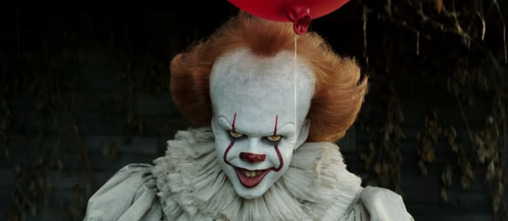 Pennywise the clown from It (2017).