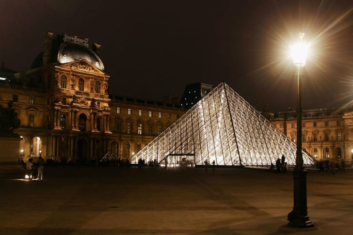 The outside of the Louvre in Paris, France