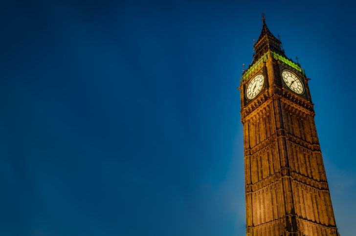 London's Big Ben clock tower