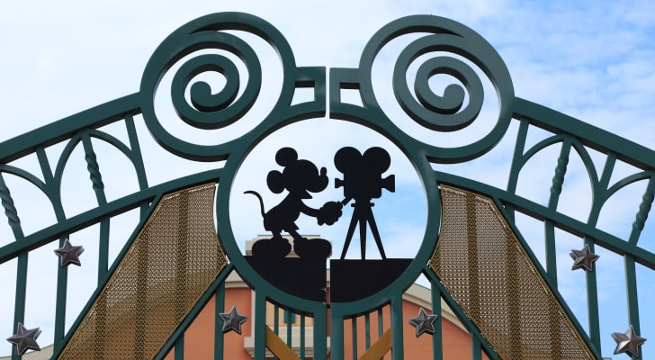 The gates at a Disney studio.