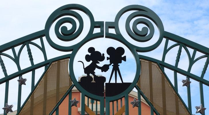 The gates at a Disney studio.