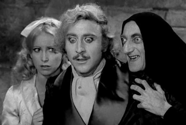 Teri Garr, Gene Wilder, and Marty Feldman in Young Frankenstein (1974)