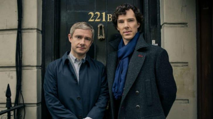 Martin Freeman and Benedict Cumberbatch star in 'Sherlock'