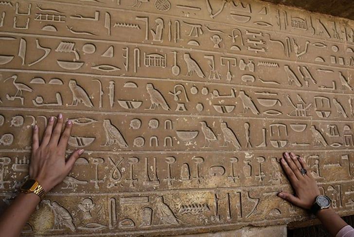 Hieroglyphics from ancient Egypt.