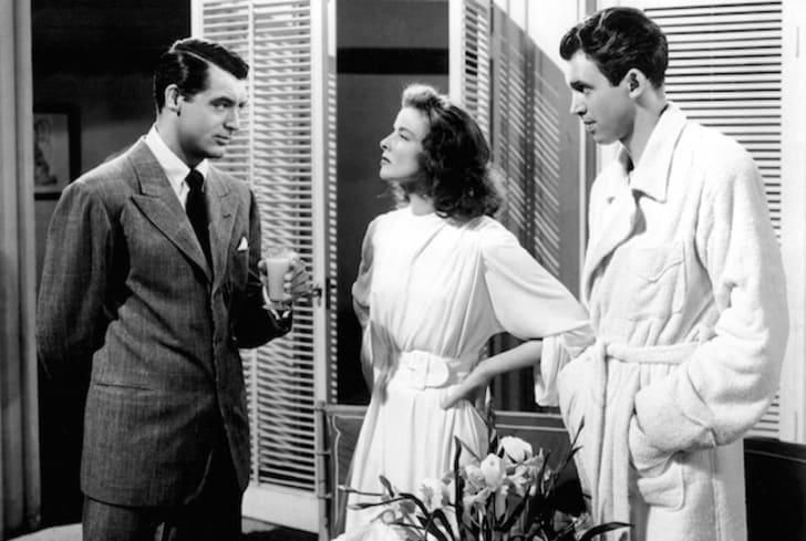 Cary Grant, Katharine Hepburn, and Jimmy Stewart in The Philadelphia Story (1940)