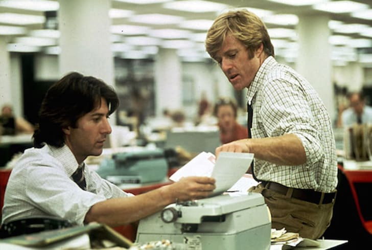 Dustin Hoffman and Robert Redford in 'All the President's Men' (1976)