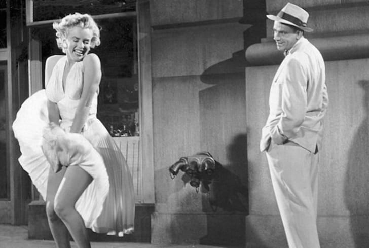 Marilyn Monroe stars in The Seven Year Itch (1955).