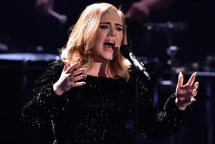 Singer Adele performs
