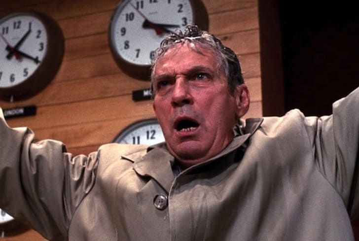 Peter Finch stars in 'Network' (1976)