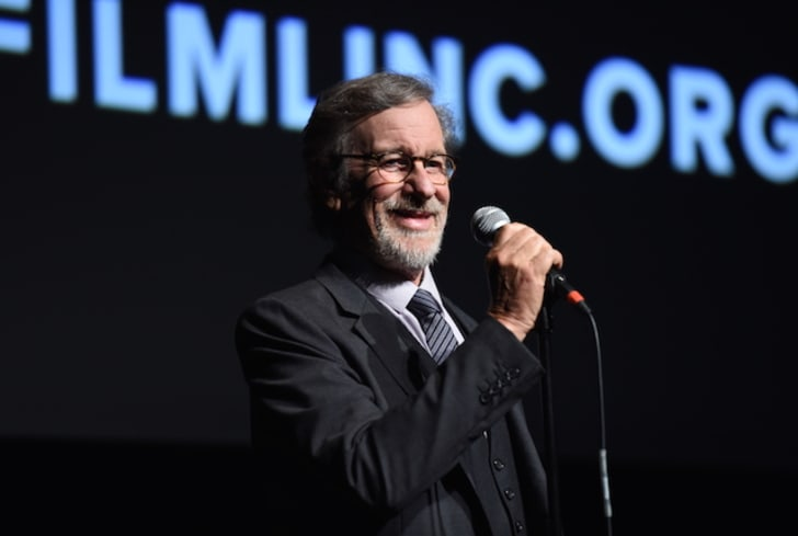 Steven Spielberg gives a speech