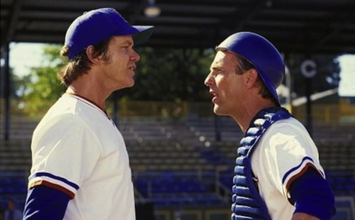 Kevin Costner and Tim Robbins in Bull Durham (1988)