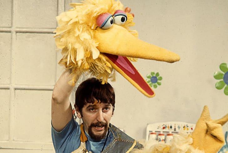Sesame Street puppeteer Caroll Spinney operates Big Bird