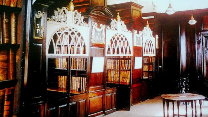 The cages in Marsh's Library in Dublin, Ireland