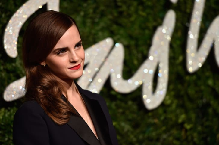 Emma Watson attends the British Fashion Awards at London Coliseum on December 1, 2014 in London, England.