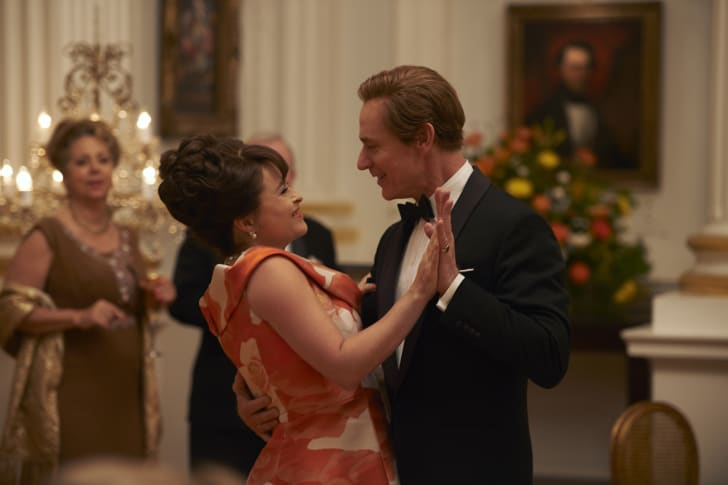 Helena Bonham Carter and Ben Daniels in 'The Crown' season 3