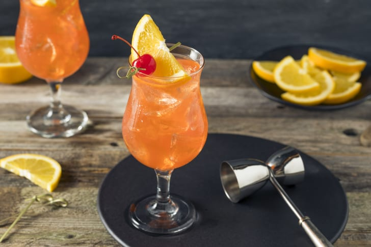 Cold, refreshing Singapore Sling cocktail