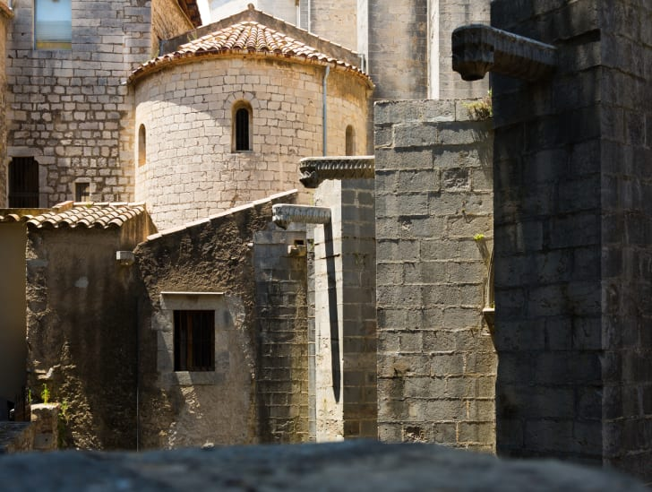 The exterior of a Spanish monastery