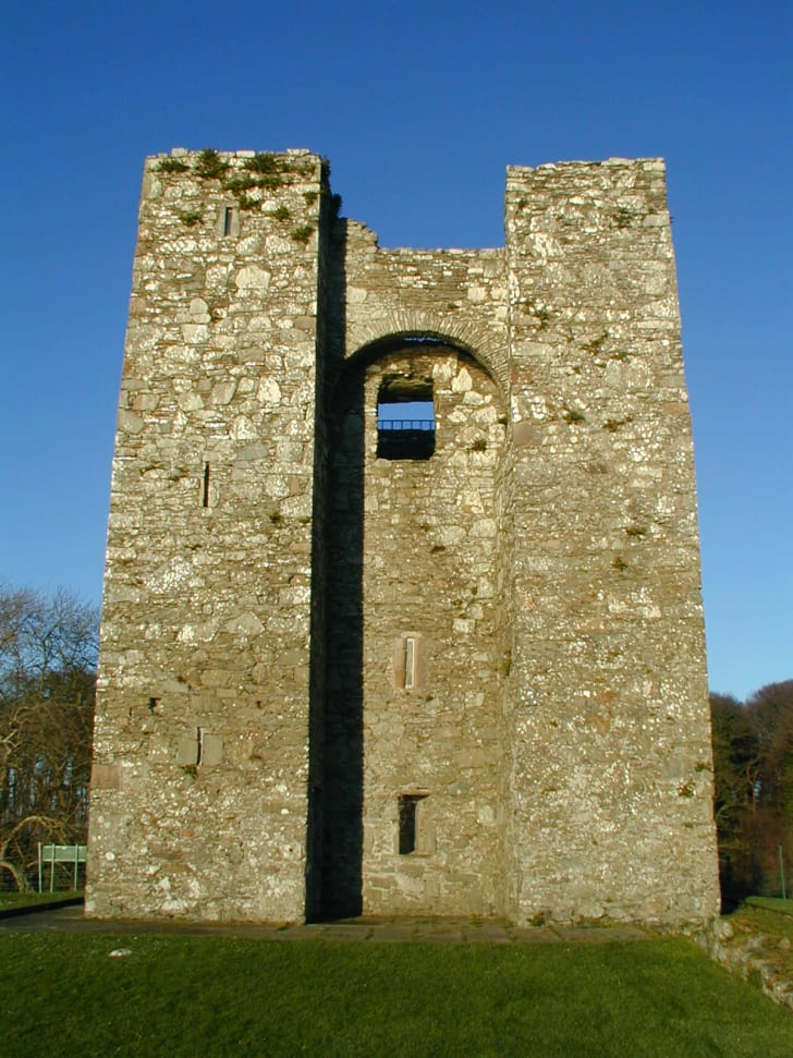 A tall stone tower