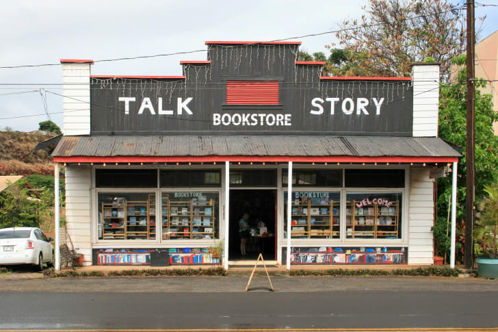 The exterior of Hawaii's Talk Story bookstore.
