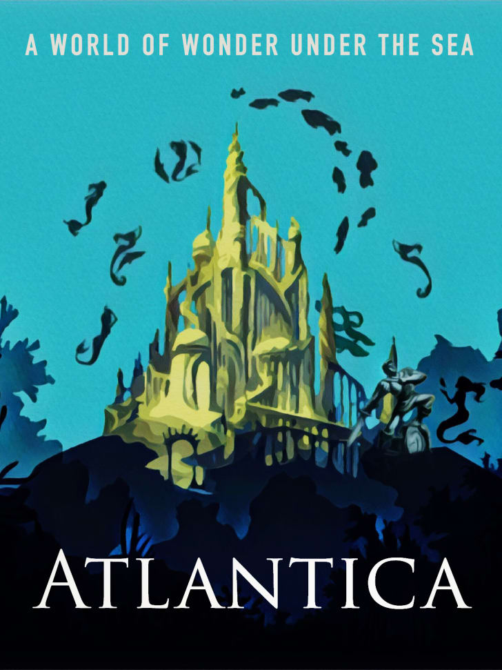 An Atlantica travel poster