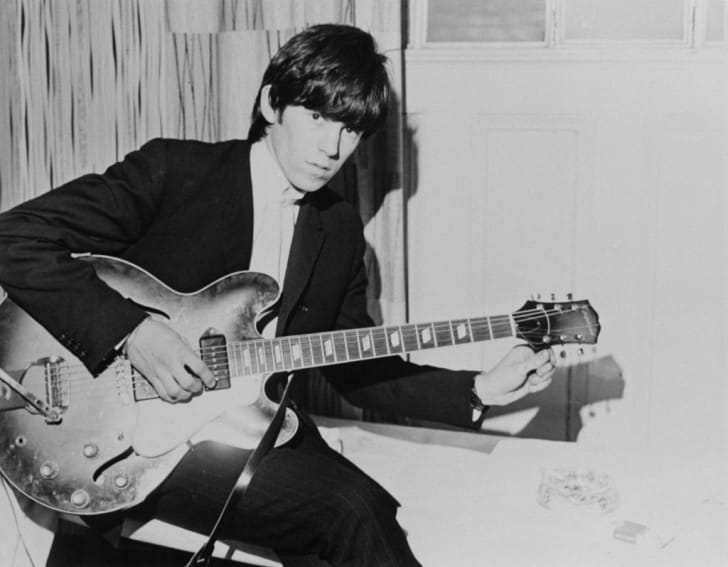 English guitarist Keith Richards of the Rolling Stones, circa 1965