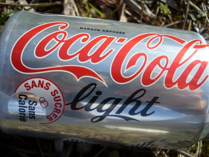 A can of Coca-Cola Light