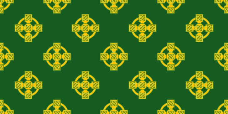 Irish celtic cross pattern