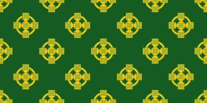 Irish celtic cross pattern