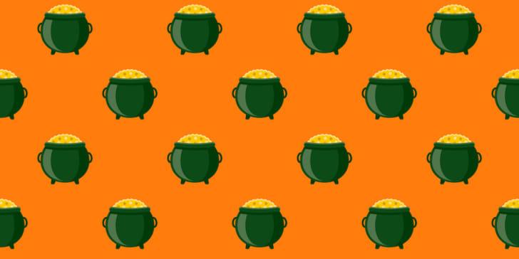 Irish pot of gold pattern