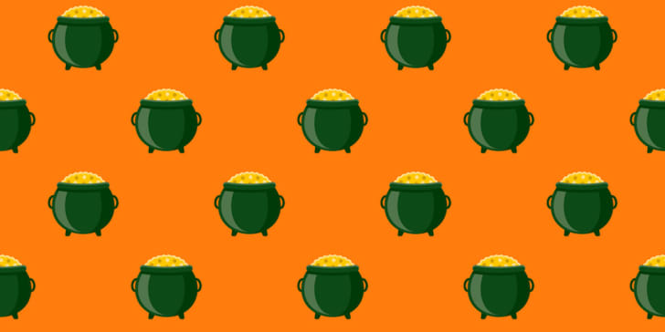 Irish pot of gold pattern