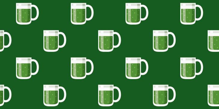 Irish green beer pattern