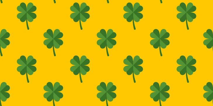 Irish shamrock pattern