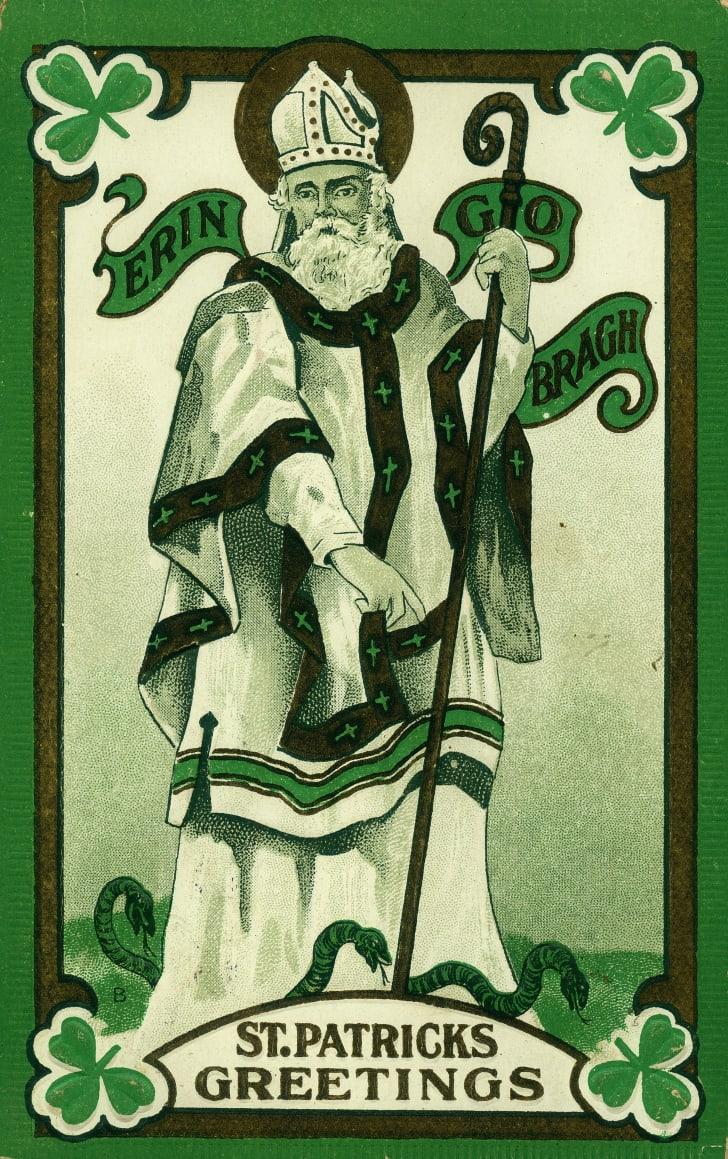 Vintage postcard of St. Patrick.