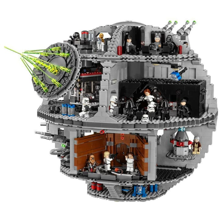 A LEGO 'Star Wars' Death Star set is pictured
